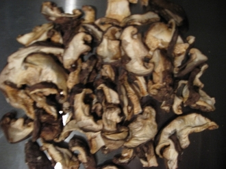 Shiitake Mushrooms, dehydrated and sliced